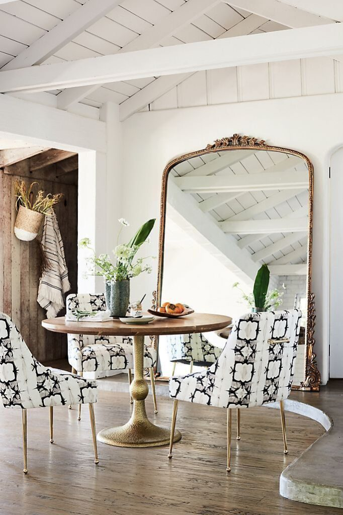 Large gilt mirror feature